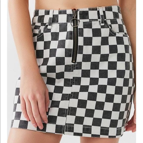 6e938c38e0 Checkered Skirt Black And White | Skirt Direct